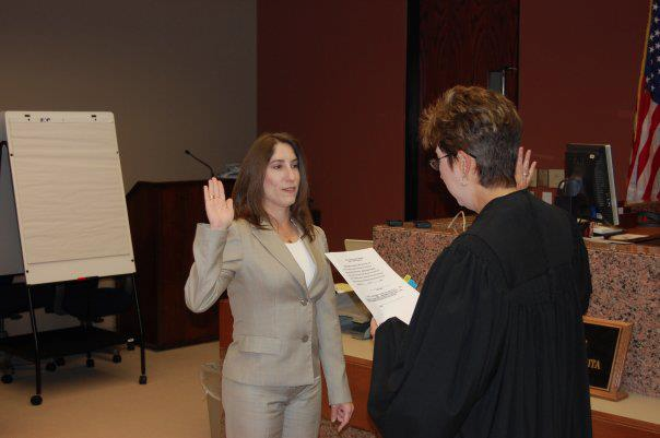 Ann Record Being Sworn in for her First Officialship