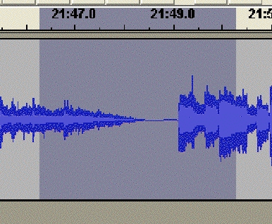 Audacity, magnified waveform