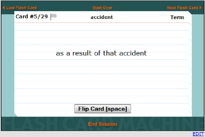 flashcard Editor:  Front