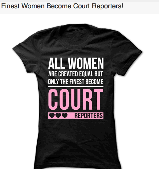 Only the Finest Women Become Court Reporters