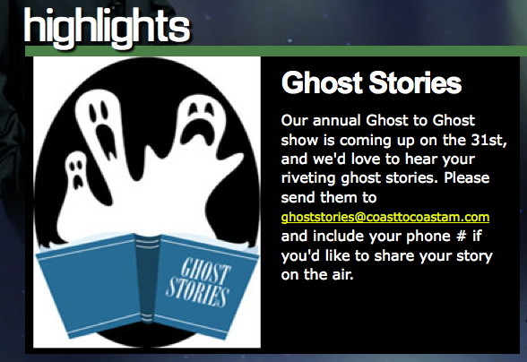 Ghost to Ghost:  Call for Stories