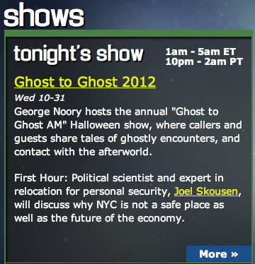 Ghost to Ghost AM Preview, 31OCT12