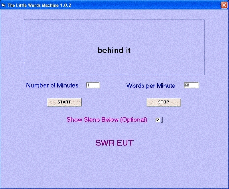 Little Words Machine Working With Steno Option