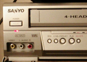 VCR's Audio In Jacks