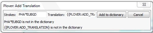 Adding the Make Dictionary entry