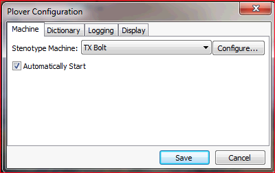 Windows Plover Configure
